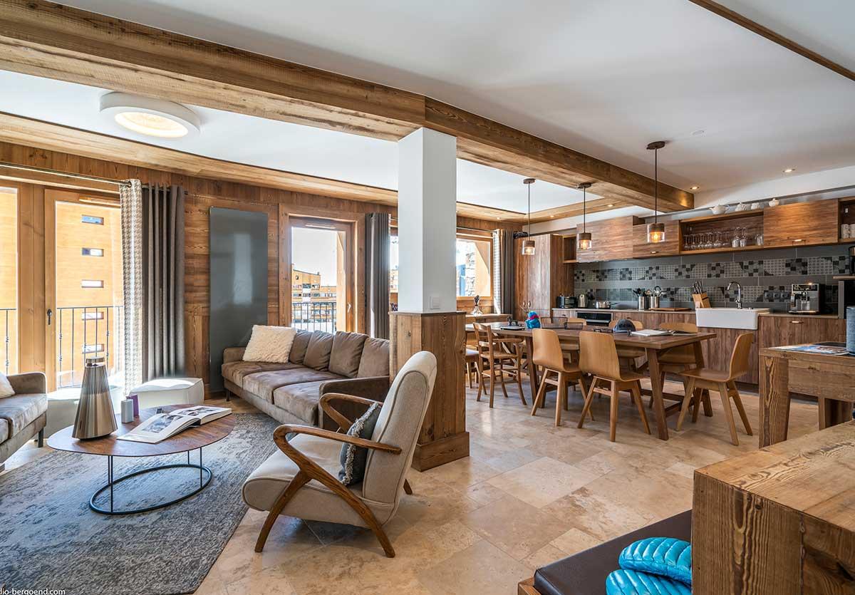Appartement de luxe à Val Thorens pour groupe au pied des pistes