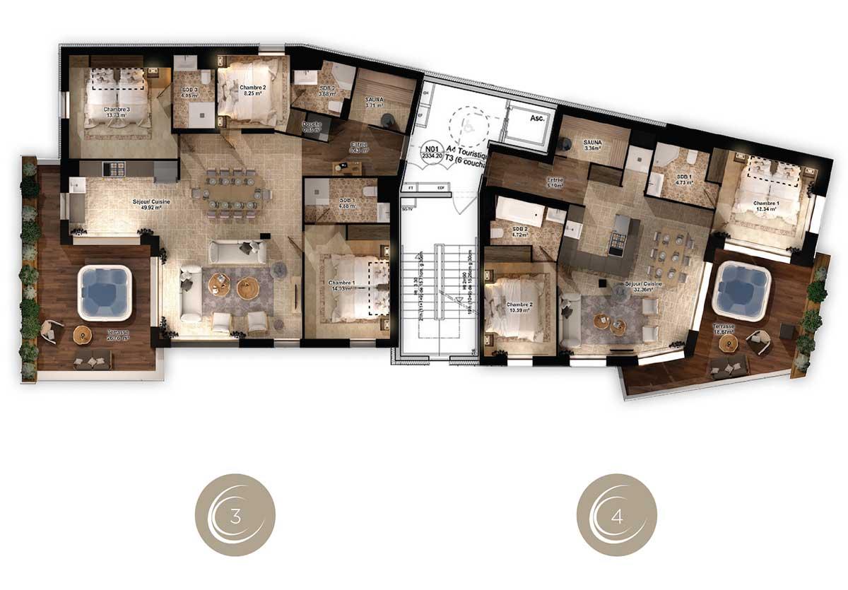 Appartement de luxe 8 personnes à Val Thorens