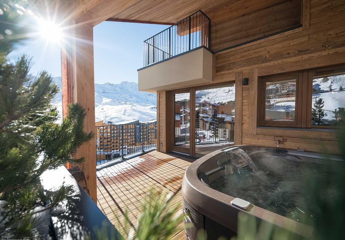Chalet 5 étoiles avec jacuzzi privatif à Val Thorens